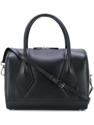 women leather cotton black bag