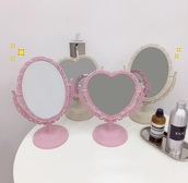 home accessory,girly,girly wishlist,vanity mirror,makeup mirror,pink,cute,heart