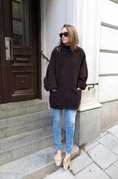 oversized sweater,oversized brown jumper