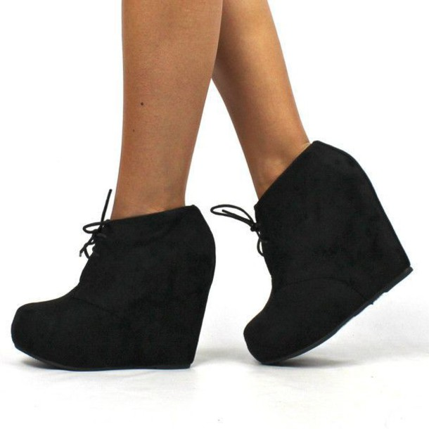 shoes booties black black shoes wedges