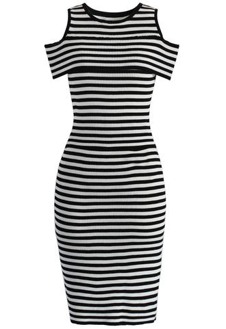 dress skirt set stripes knitted dress