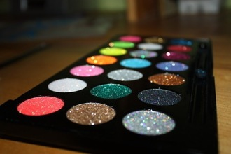 colorful rainbow make-up glitter eye shadow eye shadow glitter
