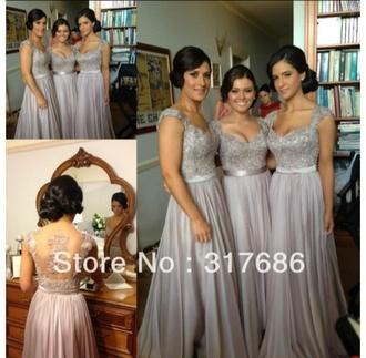 dress formal dress prom dress grey prom dress long prom dress