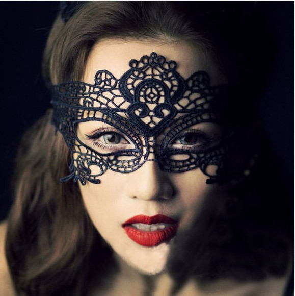 mask jewels lace halloween costume dark mask halloween masquerade
