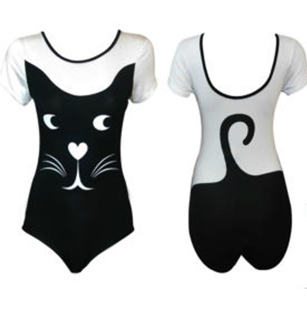 New Womens Animals Cat Print Bodysuit New In Fashion Top M/L | eBay