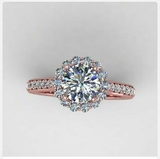 jewels ring engagement ring diamonds wedding ring diamond ring rose gold ring unique ring