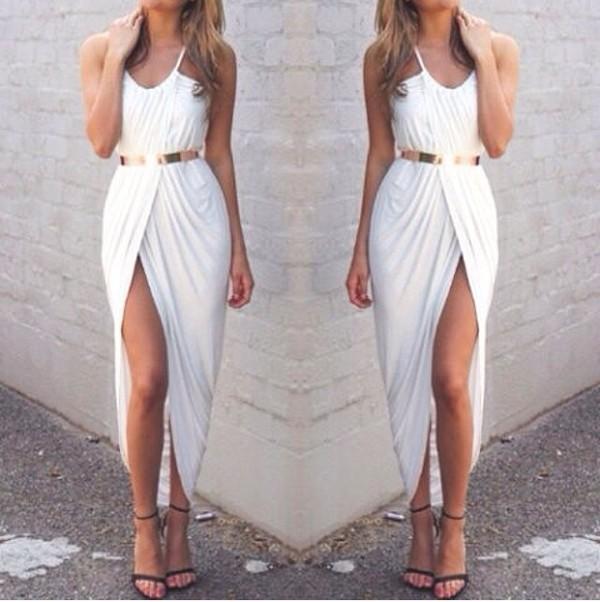 dress white dress white slit
