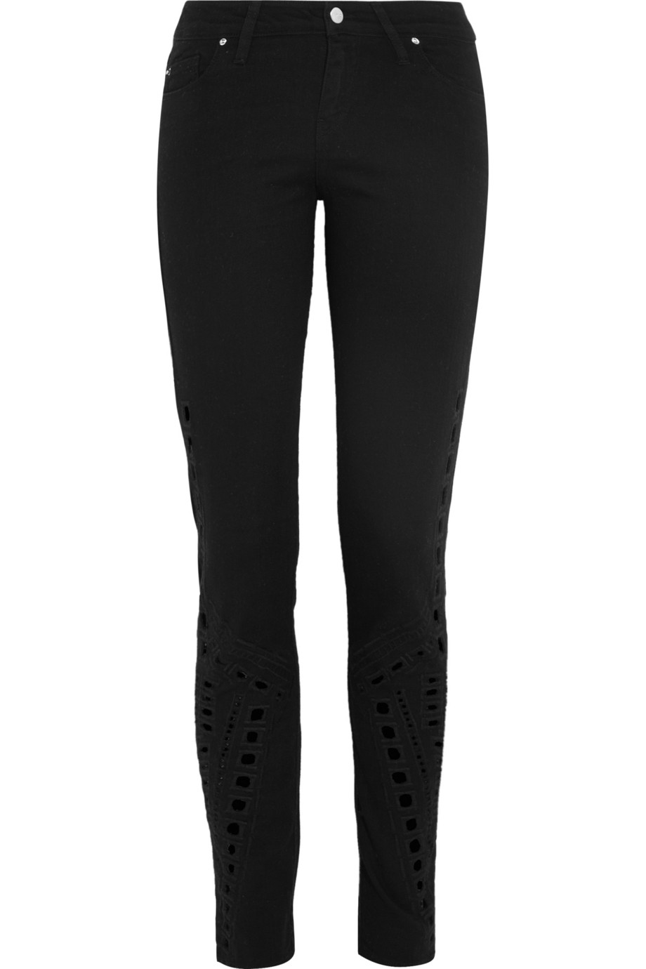 Hawkins embroidered cutout mid-rise skinny jeans | THE OUTNET