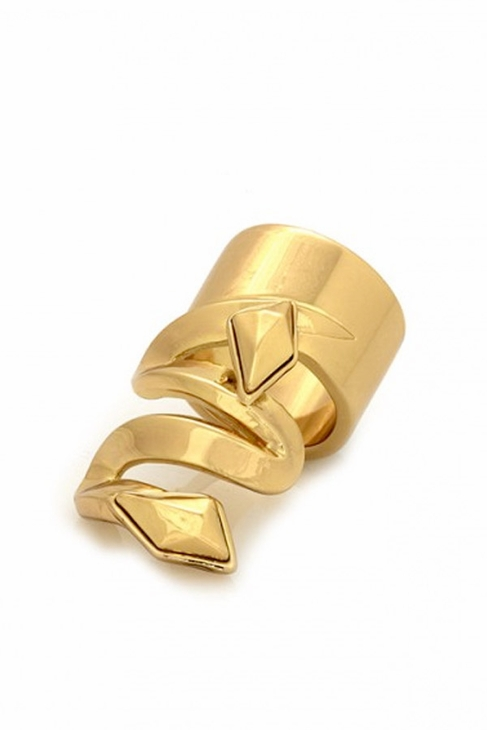 Belle Noel by Kim Kardashian Faceted Metal Stone in Yellow Gold