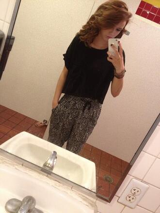 jeans acacia brinley pants shirt black white