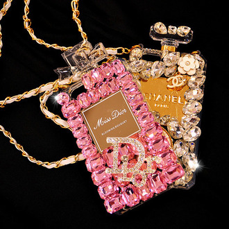 phone case miss dior dior dior not war chanel iphone case iphone 5 case cases phone case fashion swarovski crystal quartz pink diamonds cc logo parfume perfume shaped perfume designers design girly ipadiphonecase.com phone case brand girly pink