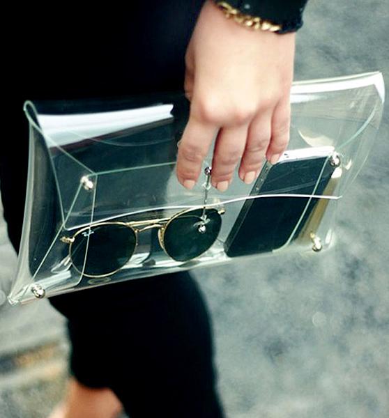 Transparent Envelope Clutch Bag - Sheinside.com