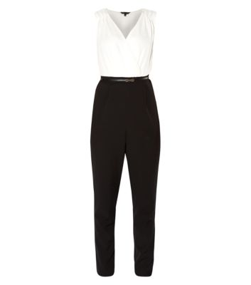 Monochrome 2 in 1 Belted Jumpsuit