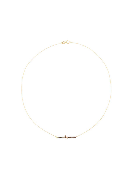 Polina Sapouna Ellis women necklace gold grey metallic jewels