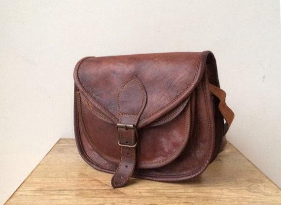 LEATHER CROSSBODY BAG - 3 sizes, Leather saddle bag, leather bag, tan leather bag, crossbody bag, leather shoulder bag, leather handbag