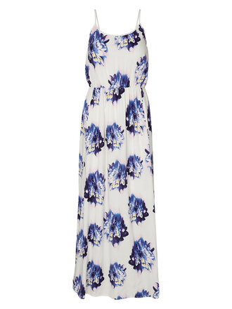 dress maxi dress floral dress blue and white
