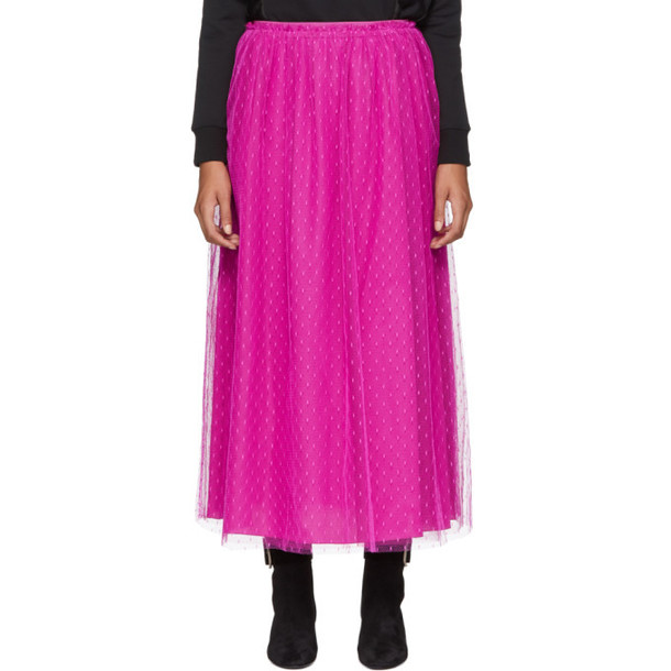 RED Valentino Pink Layered Tulle Skirt