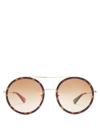 sunglasses gold brown