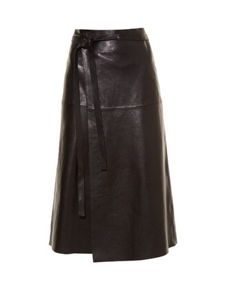 skirt leather skirt candy leather black