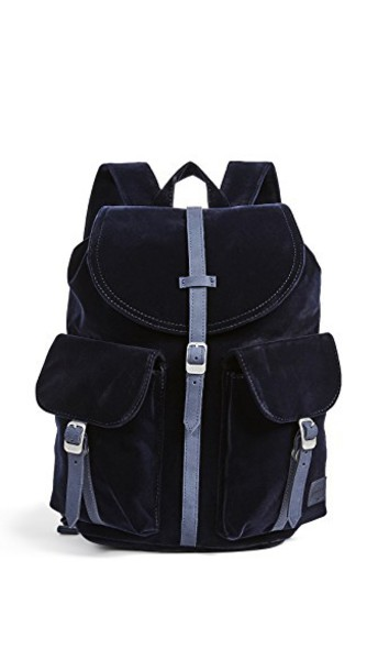 Herschel supply Co. backpack velvet bag