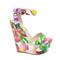 Boutique fashion - white flower design wedges
