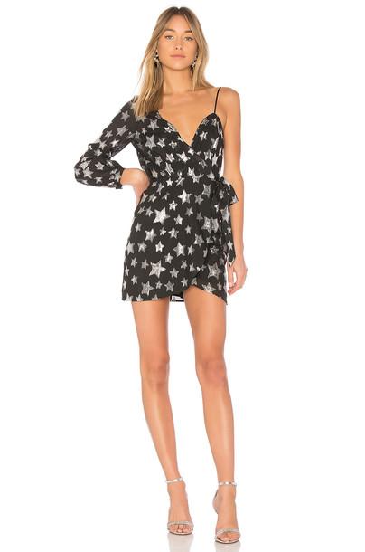 For Love & Lemons dress one shoulder dress black