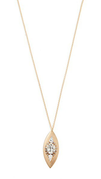 Sandy Hyun necklace gold yellow jewels