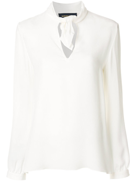 Vanessa Seward blouse women white silk top