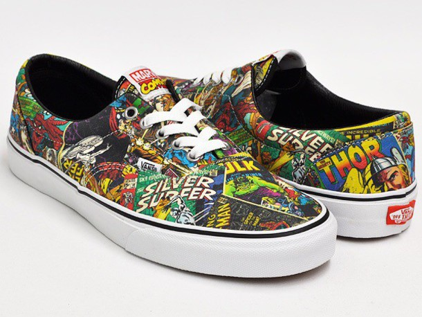 0c54ed62cdce1e shoes vans marvel comics beautiful colorful superman batman spiderman joker  comics black and colorfull batman harley