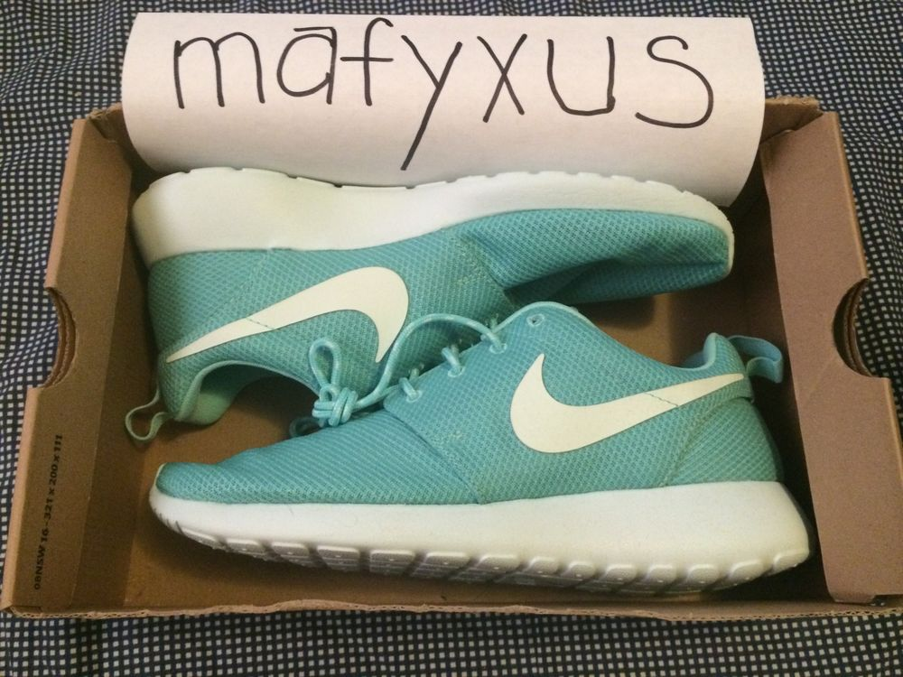 DS ROSHE RUN TROPICAL TWIST TIFF TEAL MINT SOUTH BEACH LEBRON SZ W 10 M 9 8.5