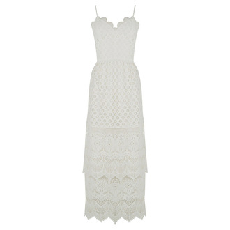 dress romantic summer dress white lace dress