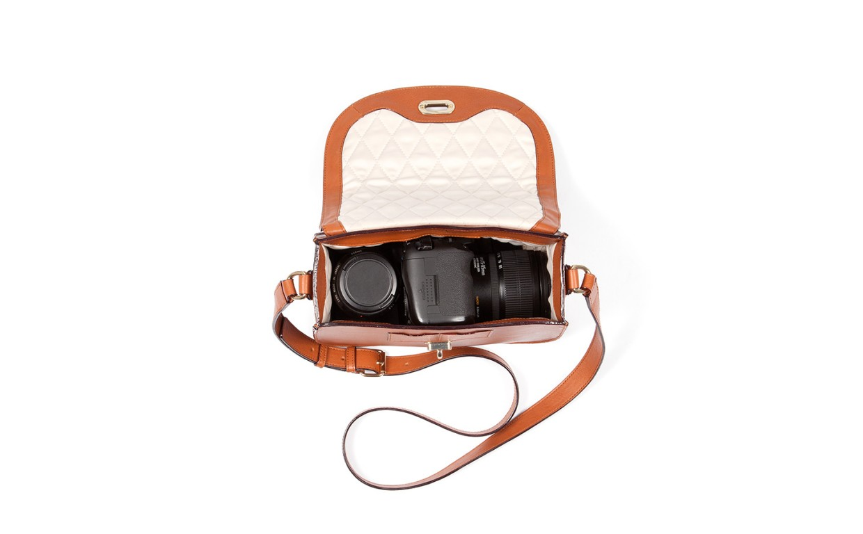 The Claremont Crossbody - Women's Leather Camera Bag - Lo & Sons