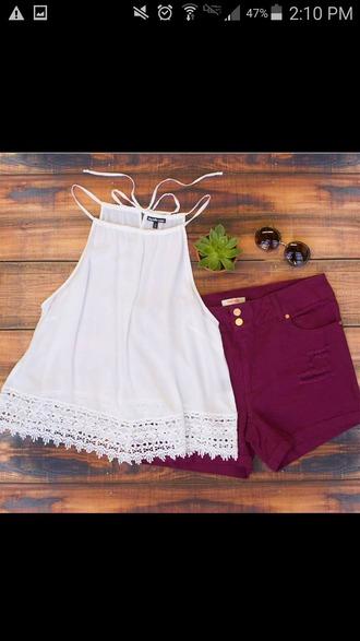 blouse white top clothes shirt tank top white tank top