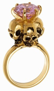 rings gold skulls purple jewels skull