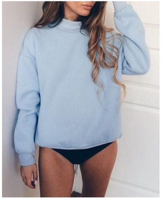 sweater girl girly girly wishlist blue blue sweater comfy