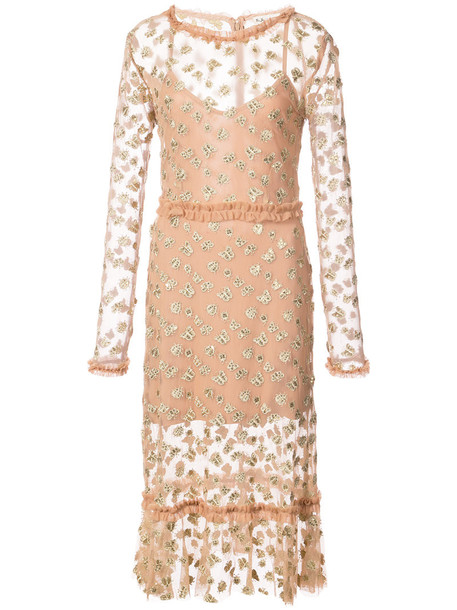 For Love and Lemons dress embroidered dress embroidered women butterfly nude