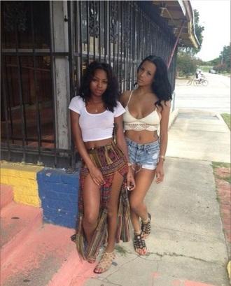 pants tribal ethnic flowy