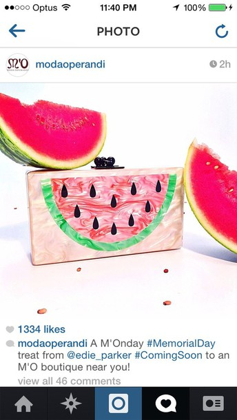 bag watermelon print