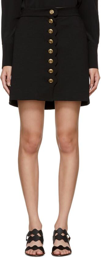 miniskirt gold black skirt