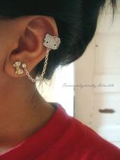 jewels,earrings,hello kitty,bag,earings