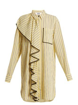 dress shirt dress lace yellow
