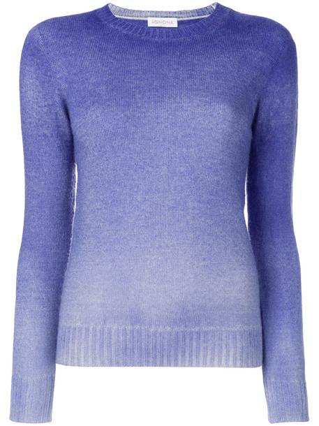 Agnona top long women blue knit