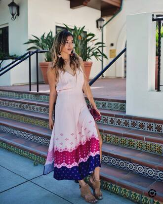 dress tumblr maxi dress long dress pink dress slit dress slip dress sandals sandal heels high heel sandals shoes
