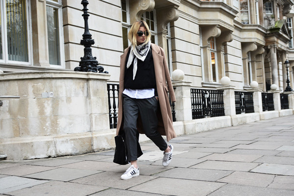 camille over the rainbow coat pants shirt shoes scarf bag