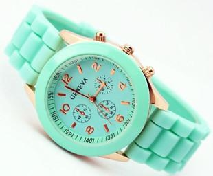 Summer mint silicone watch – glamzelle
