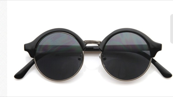 sunglasses retro hipster round round sunglasses black matte