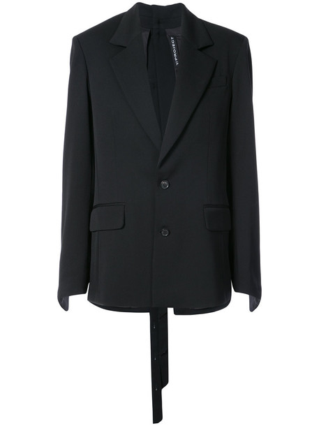 Y / Project blazer women spandex black wool jacket