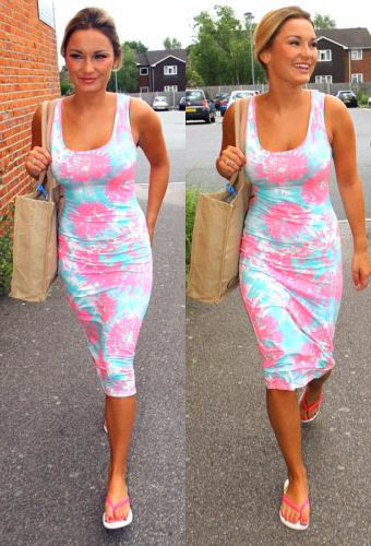 Dark Blue Garment Hot Sale! New Women Summer Casual Dress Fashion Sexy Sleeveless Floral Vest Print Long Bodycon Dresses Elegant | Amazing Shoes UK