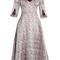 Karol v-neck satin-jacquard dress
