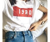 shirt,vintage,graphic tee,white,shapes